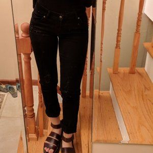 NWT Levi's Original Ripped Black Jeans Size 26